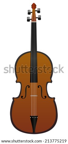 Classic wooden violin - musical instrument - stock vector
