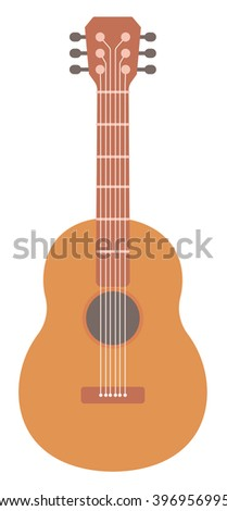 Classical acoustic guitar - stock vector