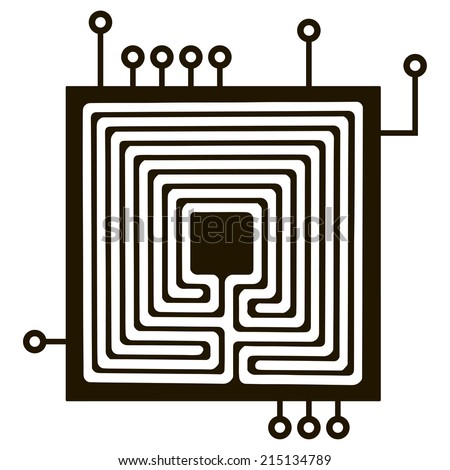 Classical electrical connection for the electrical components. Vector illustration. - stock vector