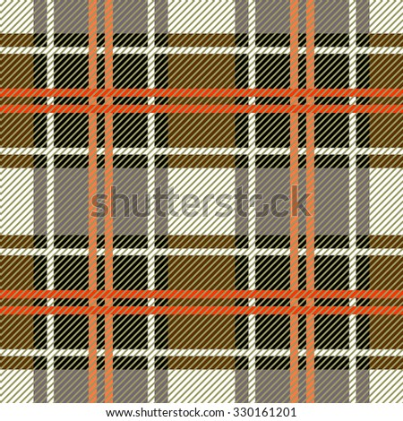 Classical plaid seamless checkered vector pattern. Retro textile collection. Beige. Backgrounds & textures shop. - stock vector