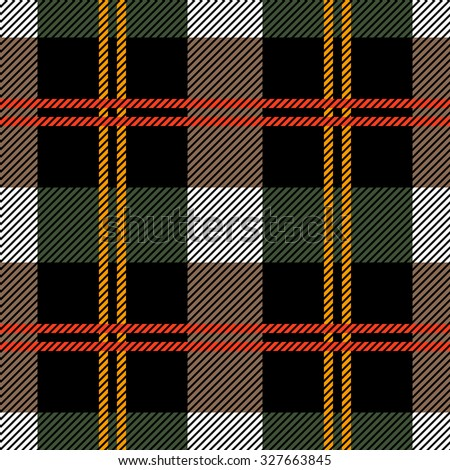 Classical plaid seamless checkered vector pattern. Retro textile collection. Grey. Backgrounds & textures shop. - stock vector