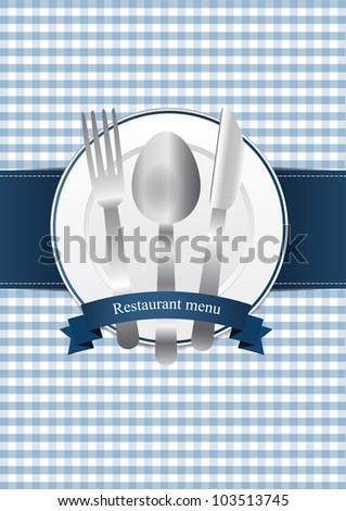 Classical restaurant menu design - stock vector