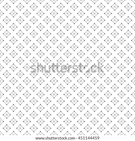 Classical seamless pattern. Modern stylish texture. Regularly repeating geometrical pattern with crosses, rhombuses. Vector abstract wrapping paper surface