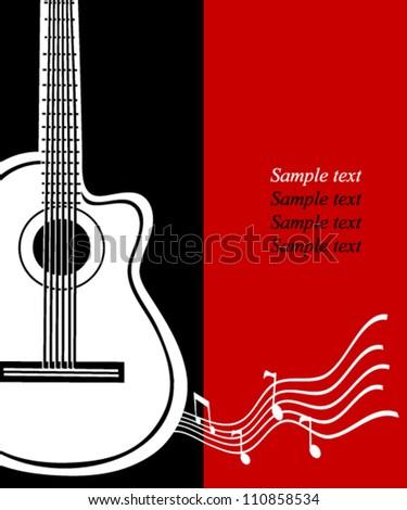 Classical vector guitar musical greeting card stock vector 110858534 classical vector guitar musical greeting card m4hsunfo