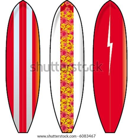 classics surfboards - stock vector