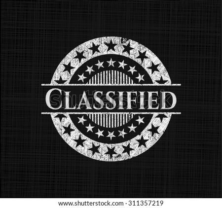 Classified written on a blackboard - stock vector