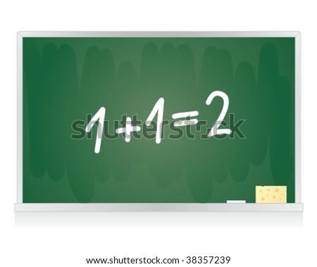 Classroom blackboard - stock vector