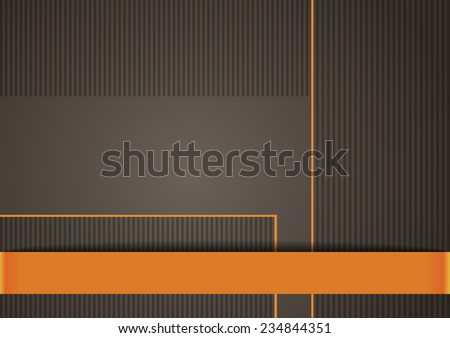Classy background in brown and orange color - stock vector