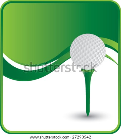 classy golf ball and tee background - stock vector