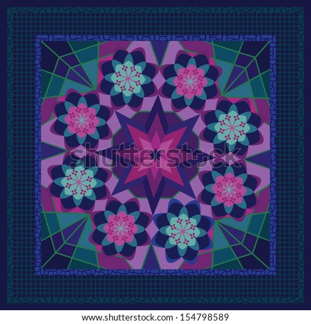 Classy shawl or bandana design - stock vector
