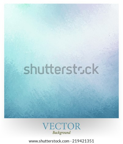 classy sky blue background vector with pale white center spot and darker blue grunge design border texture with soft lighting - stock vector