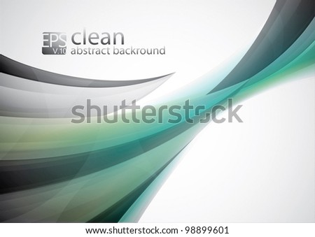 Clean Abstract Background. Each object is well organized in layers for easy customization - stock vector