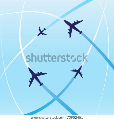 clean air travel design - stock vector