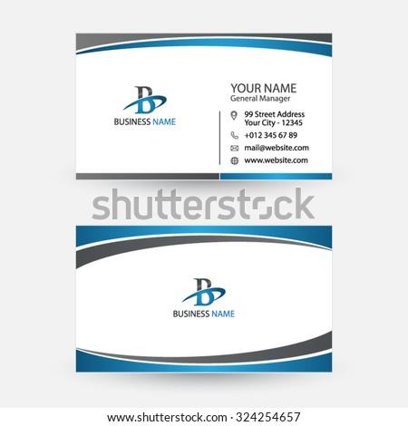 Clean simple modern business card spiral stock vector 324254657 clean and simple modern business card spiral swoosh design colourmoves