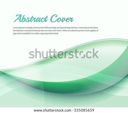 Clean background with light green gradient and blend. Business style or technology clean design. Modern vector backdrop with green gradient and wave. Template cover or page. Nature lines