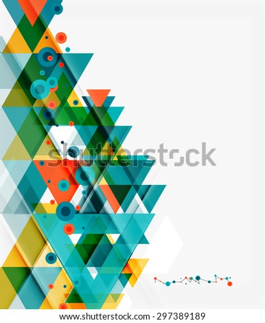 Clean colorful unusual geometric pattern design. Abstract background, online presentation website element or mobile app cover  - stock vector