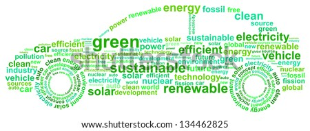 Clean Energy Car Concept Word Cloud - stock vector