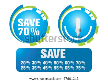 Clean energy series - stock vector