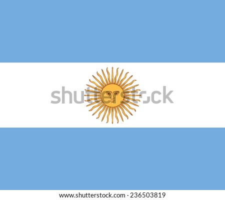 Clean flag of Argentina, South America, vector illustration - stock vector