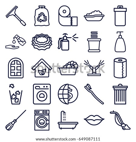 clean icons set set 25 clean stock photo photo vector