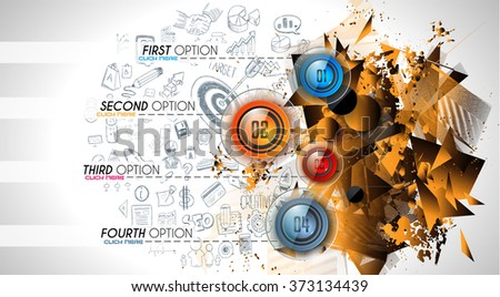 Clean Infographic Layout Template for data and information analysis with a number of solutions available. Ideal for product presentation, item ranking, ideas evaluation and so on. - stock vector