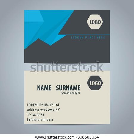 Clean simple modern business card template stock vector 308605034 clean simple modern business card template colourmoves