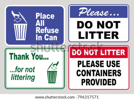 Clean sticker sign for office area please do not litter place all refuse in