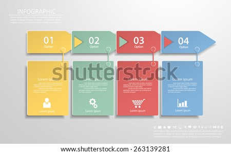 Clean template 4 steps. Can be used for workflow layout, banner, diagram, web design, infographic Vector Eps10 - stock vector