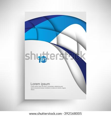 clean trendy wave elements corporate design. eps10 vector - stock vector