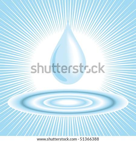 Clean water droplet - stock vector