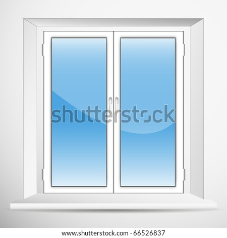 Clean window. Vector illustration. - stock vector