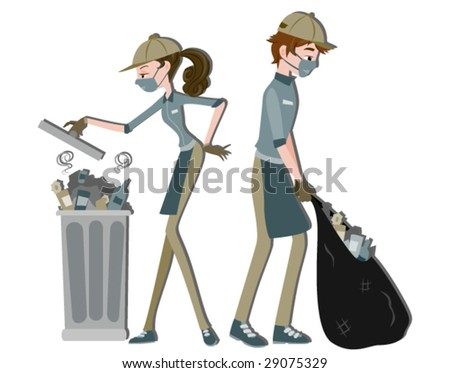 Cleaners - Vector - stock vector