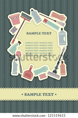 Cleaning background - stock vector