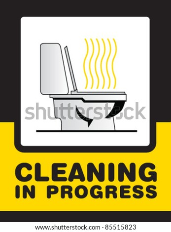 cleaning bath sign - stock vector