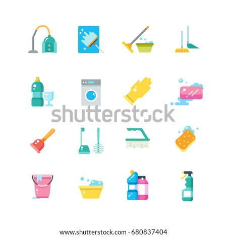 Cleaning Home Services Household Tools Isolated Stock Vector (2018 ...