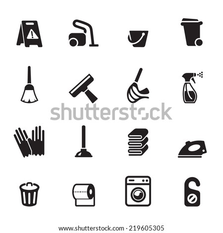 Cleaning Icons Vector files. - stock vector