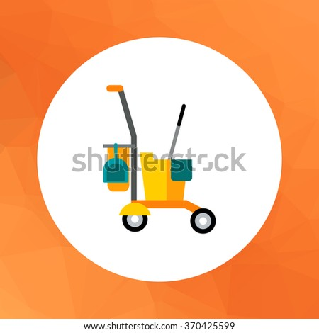 Cleaning service cart - stock vector