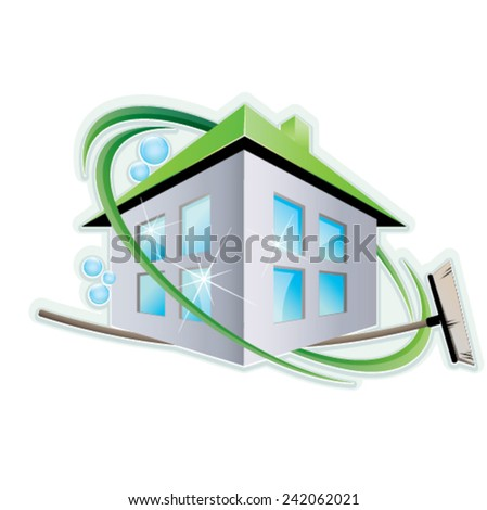 Cleaning Service Symbol - stock vector