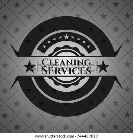 Cleaning Services black emblem. Vintage.