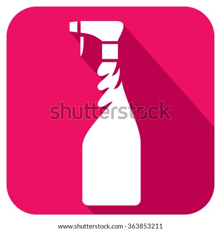 cleaning spray bottle flat icon - stock vector