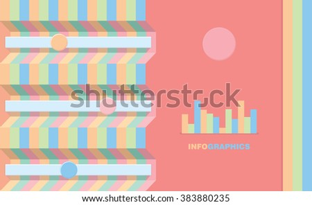 Clear and simple design template. Vector illustration easy to edit, it can be used for brochure cover, mobile application, web site design, infographics interface. Bright, vivid, colors - stock vector