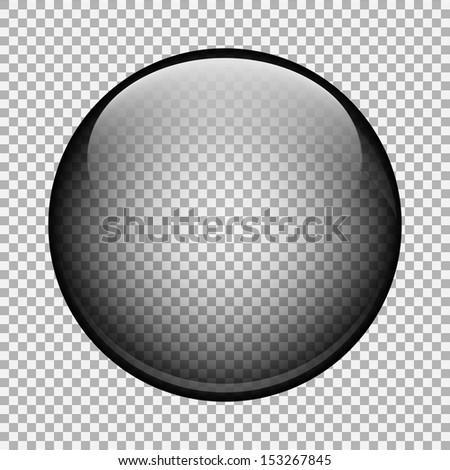 Clear glass ball - stock vector