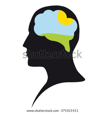 Clear mind - stock vector