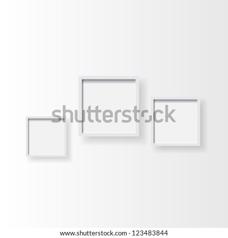 Clear Plain Photo Frames Composition On Stock Photo (Photo, Vector ...