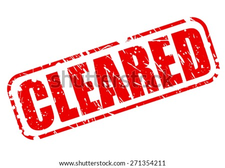 Cleared red stamp text on white - stock vector