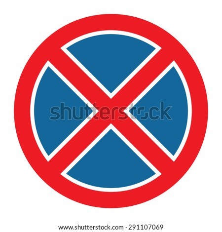 Clearway sign - stock vector