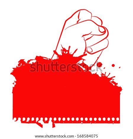 Clenched fist hand vector. - stock vector