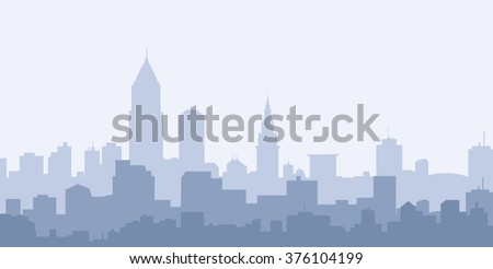 Cleveland Morning City Skyline - Vector - stock vector