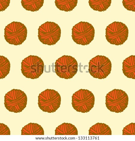 Clew vector seamless pattern, sketch illustration - stock vector
