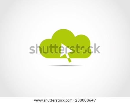 Click Cloud Computing - stock vector